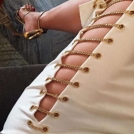 Gianni Gold Chains Skirt - white or black - Awesome World - Online Store  - 5