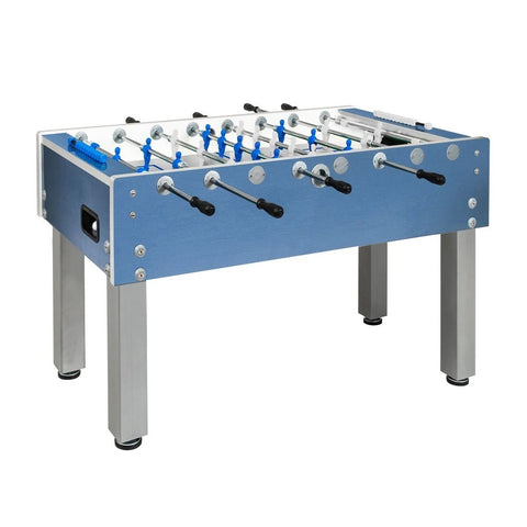 Garlando G-500 Blue Weatherproof Outdoor Foosball Table Blue