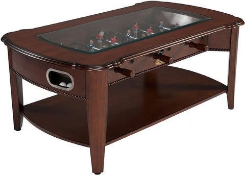"Berner Billiards ""The Maxwell"" Foosball & Coffee Table in Antique Walnut"