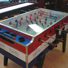 Garlando Foosball Table in Red, White & Blue (Coin-Operated) with Cover Top Called Coperto is available at Foosball Planet.