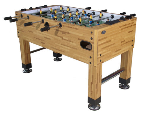 Berner Premium Foosball Table in Butcher Block