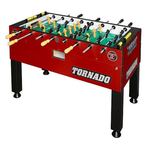 Tornado T-3000 Foosball Table in Crimson Red