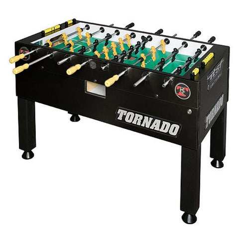 Tornado T-3000 Foosball Table in Matte Black