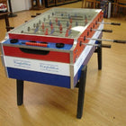 Red, White & Blue Garlando Foosball Table with Cover Top, called Coperto, which is Coin Opperated is available at Foosball Planet