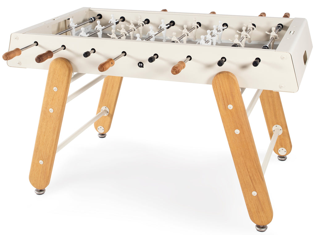 RS Barcelona Oyster White RS4 Outdoor Foosball Table