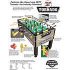 Tornado T-3000 Foosball Table in Gold Limited Edition
