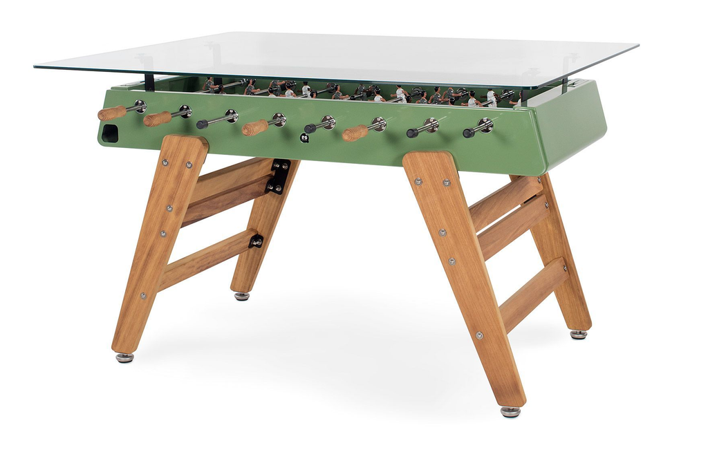 RS Barcelona Green RS3 Wood Rectangular Outdoor Dining Table