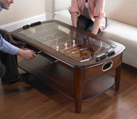 Charmant ... Glass Top On Signature Foosball Coffee Table By Chicago Gaming  Available At Foosball Planet.