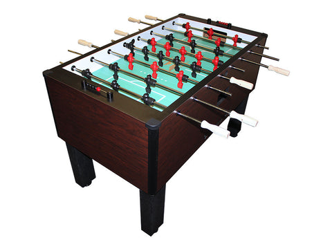 Picture of Shelti Home Pro Foosball Table in Mahogany with Chrome Rods and Wood Handles
