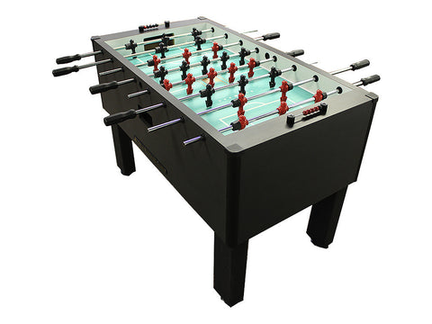 Shelti Home Pro Foosball Table in Charcoal Matrix with Chrome Rods and Black Handles