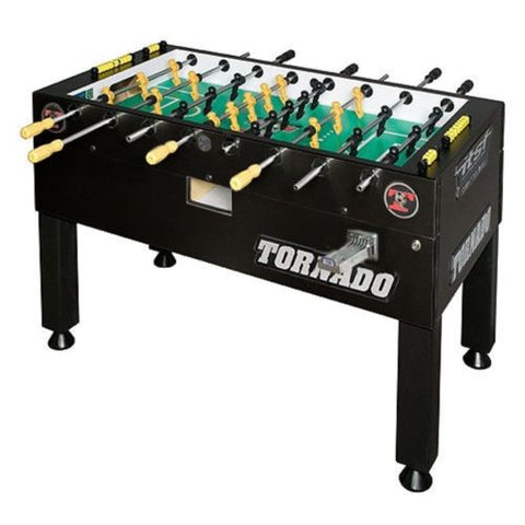Tornado T-3000 Foosball Table in Matte Black (Coin)