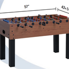 Dimensions on a F-100 Foosball Table from Garlando, which is available at Foosball Planet