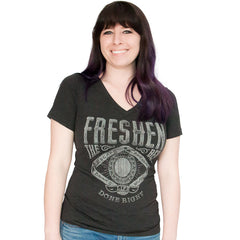Women's Guitar Relaxed Fit V-Neck Tee