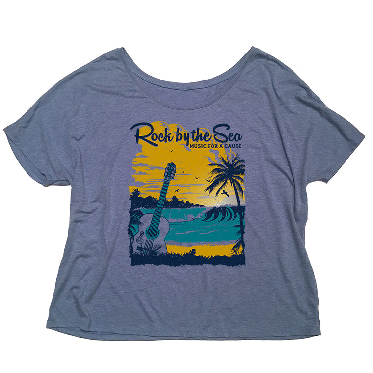 Rock by the Sea '18 Women's Slouchy Tee - Blue Triblend