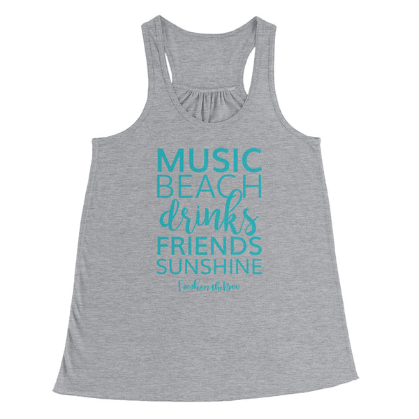 The Summer Shirt Flowy Racerback Tank Top - Gray