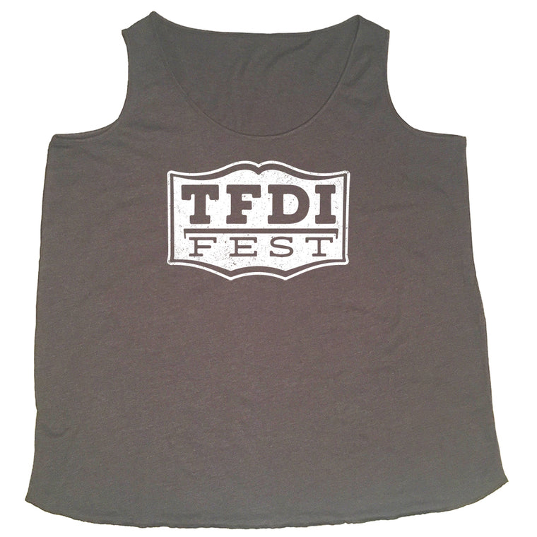 TFDI Fest Women's Guitar Curvy Flowy Tank Top - Grey - PRESALE