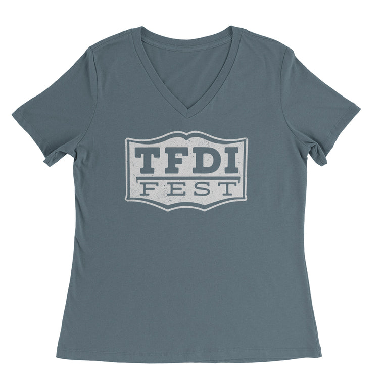 TFDI Fest Women's Relaxed Fit V-Neck Tee - PRESALE