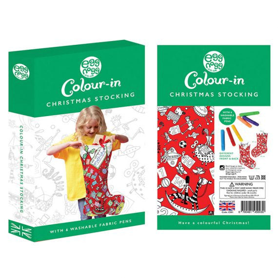 Christmas Stocking - colour in