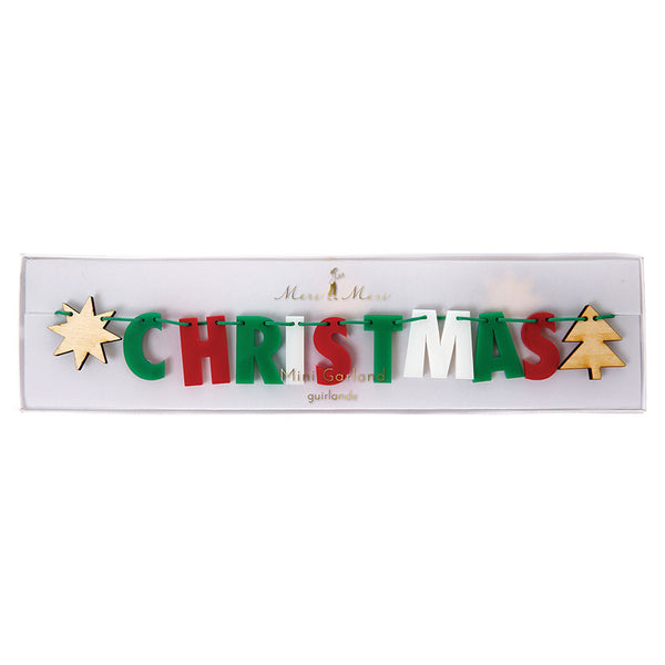 Merry Christmas Colourful Garland