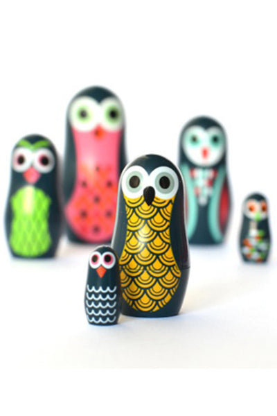 Mini Owl Stacking Dolls