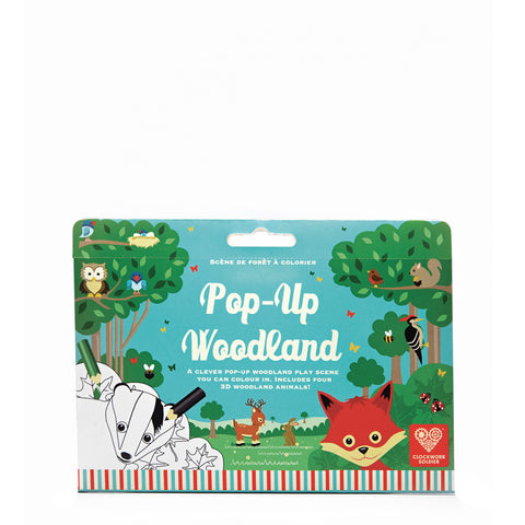 Pop up colour and play woodland scene