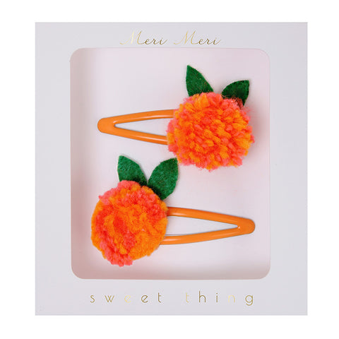 Tangerine Hairclips
