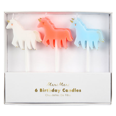 6 Unicorn Candles