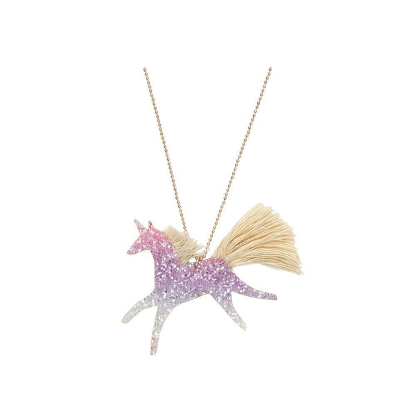Unicorn Ombre Glitter Necklace