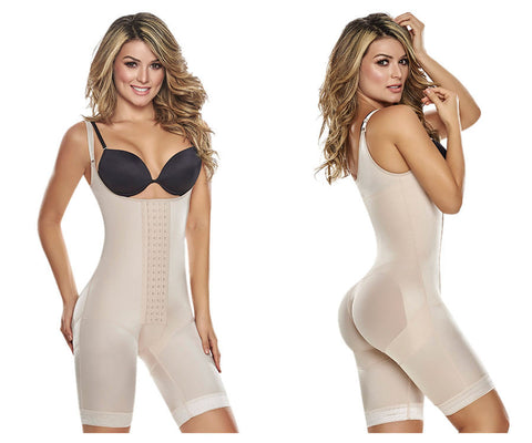 1251 Power Slimmed Mid-Thigh Body Shaper Girdle