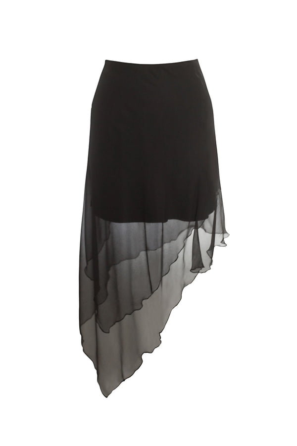 Silk Skirt Black