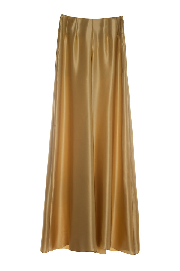 Gold Silk Satin Trousers