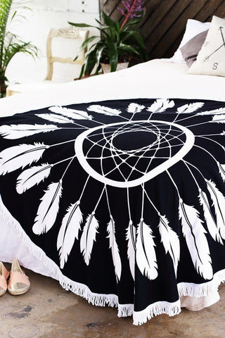 Dreamcatcher Round Beach Blanket