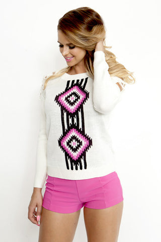Split Decision Tribal Sweater