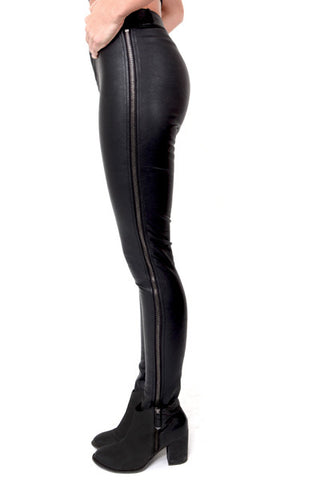 Olivaceous 'Zip Me Up' Vegan Leather Pants