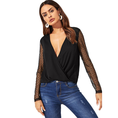 Raven Wrap Blouse