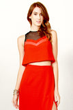 Red Revolt Cropped Top