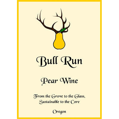 Bull Run Pear Wine 12/12.68oz.