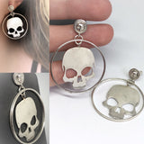 Dangle Skull Hoops-UDINC0657