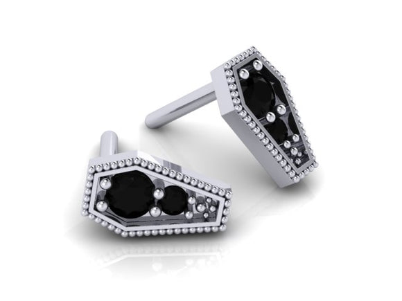 Coffin Stud Earrings-UDINC0672