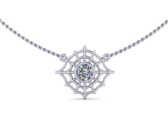 Full Web Bezel Necklace-UDINC0691