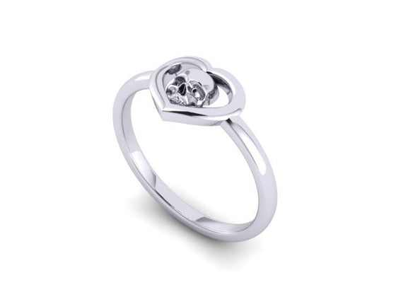 Skull Heart Ring- UDINC0580