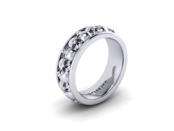 Plain Alternating Skull Eternity Band-UDINC0329