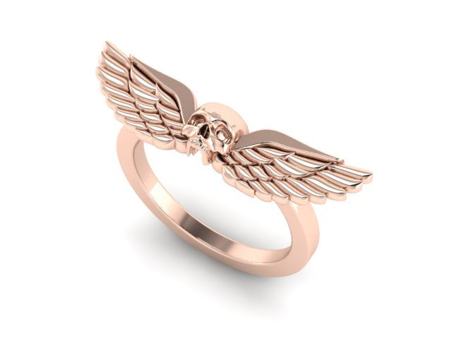 Winged Skull Ring-UDINC0574