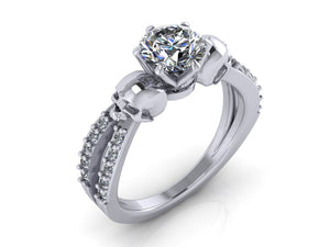 Secret Skull Engagement Ring-UDINC0670