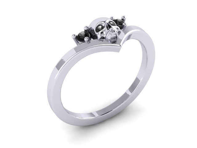 "Skull ""V"" Shape Ring-UDINC0436"