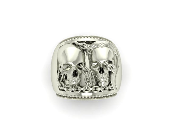 Chained Skull Couple-UDINC0054