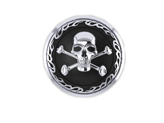 Skull and Cross Bone Motorcycle Gas Cap