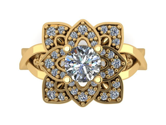Twisted Petal Ring- UDINC0575