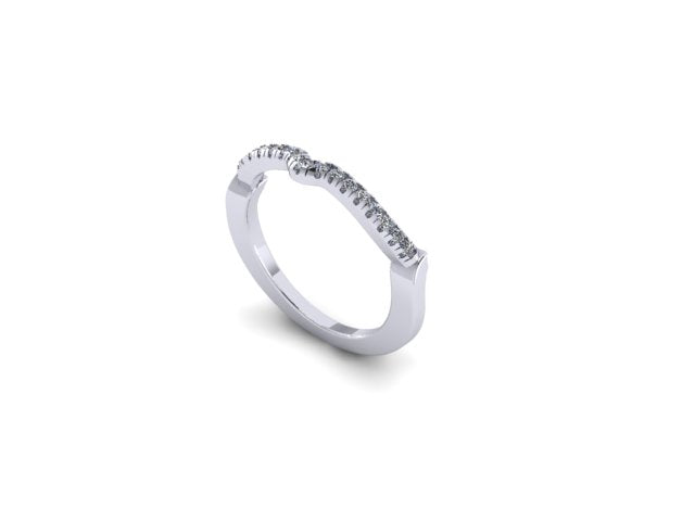 Contour Wedding Band-UDINC0425WB