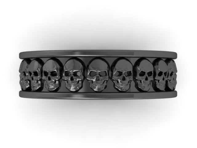 Thicker Repeating Skull Band-UDINC0327